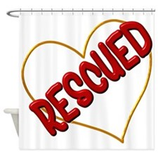 Rescued Heart Shower Curtain