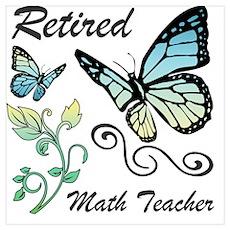 Retired Math Teacher Poster