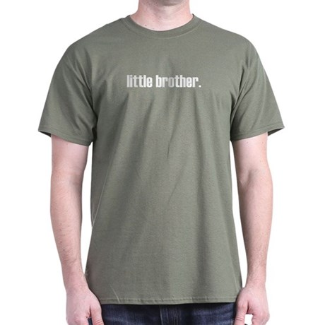 ADULT SIZES - little brother plain Dark T-Shirt