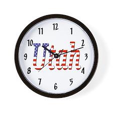Patriotic Utah Wall Clock