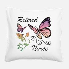 Retired Nurse Square Canvas Pillow