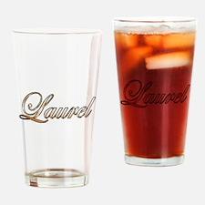 Gold Laurel Drinking Glass