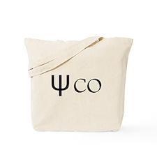Psycho Black Design. Greek Letter Psi Tote Bag