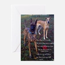 Great Dane questions Greeting Cards