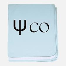 Psycho Black Design. Greek Letter Ps baby blanket