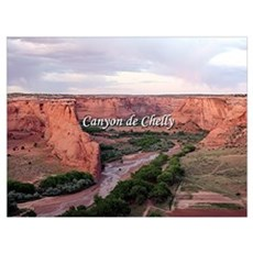 Canyon de Chelly at sunset (caption) Poster