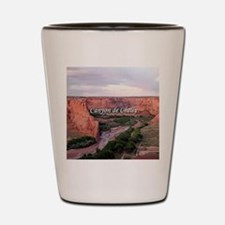 Canyon de Chelly at sunset (caption) Shot Glass