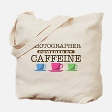 Photographer Powered by Caffeine Tote Bag