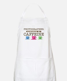 Photographer Powered by Caffeine Apron