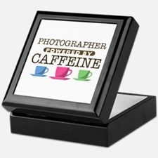 Photographer Powered by Caffeine Keepsake Box
