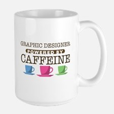 Graphic Designer Powered by Caffeine Mug