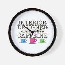 Interior Designer Powered by Caffeine Wall Clock