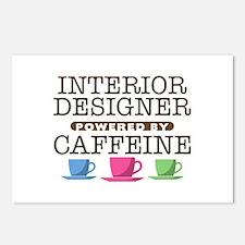 Interior Designer Powered by Caffeine Postcards (P