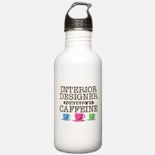 Interior Designer Powered by Caffeine Water Bottle