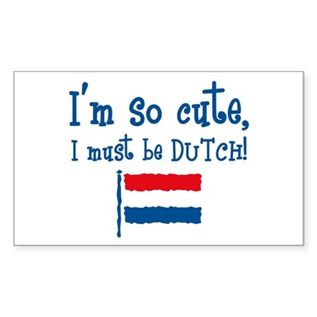 So Cute Dutch Rectangle Sticker