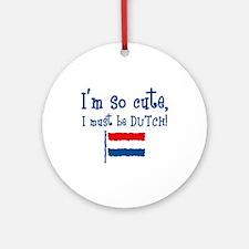 So Cute Dutch Ornament (Round)