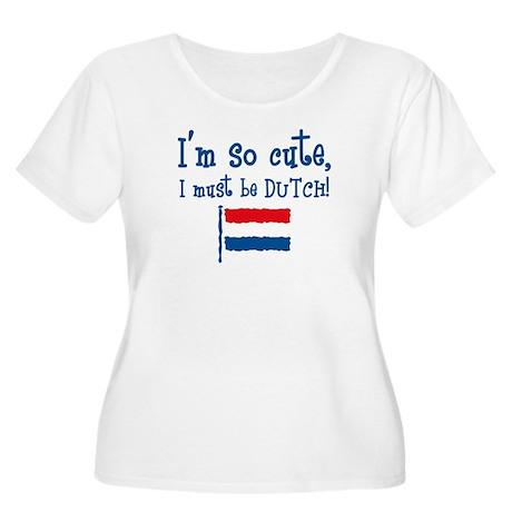 So Cute Dutch Women's Plus Size Scoop Neck T-Shirt