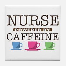 Nurse Powered by Caffeine Tile Coaster
