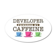Developer Powered by Caffeine 38.5 x 24.5 Oval Wal