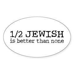 Half Jewish Oval Decal