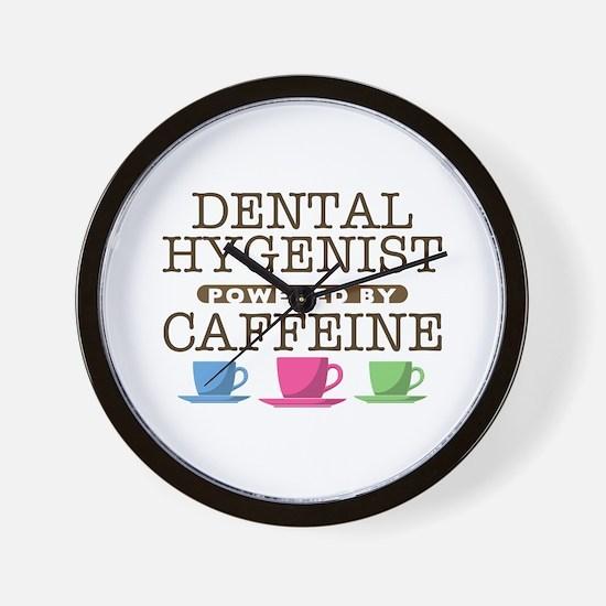 Dental Hygenist Powered by Caffeine Wall Clock