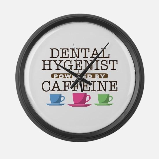 Dental Hygenist Powered by Caffeine Large Wall Clo