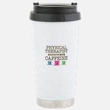 Physical Therapist Powered by Caffeine Ceramic Tra