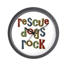 Rescue Dogs Rock Pet Dog Lover Wall Clock