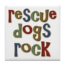 Rescue Dogs Rock Pet Dog Lover Tile Coaster