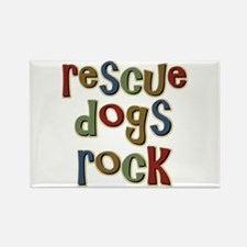 Rescue Dogs Rock Pet Dog Lover Rectangle Magnet