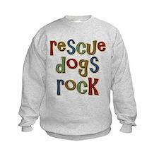 Rescue Dogs Rock Pet Dog Lover Sweatshirt