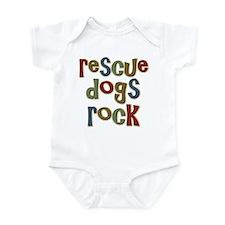 Rescue Dogs Rock Pet Dog Lover Infant Bodysuit