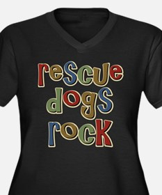 Rescue Dogs Rock Pet Dog Lover Women's Plus Size V