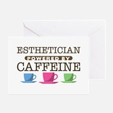 Esthetician Powered by Caffeine Greeting Card
