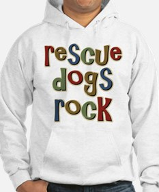 Rescue Dogs Rock Pet Dog Lover Jumper Hoodie