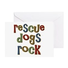 Rescue Dogs Rock Pet Dog Lover Greeting Card
