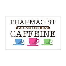 Pharmacist Powered by Caffeine 22x14 Wall Peel