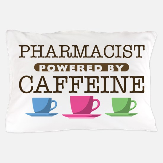 Pharmacist Powered by Caffeine Pillow Case