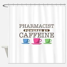 Pharmacist Powered by Caffeine Shower Curtain