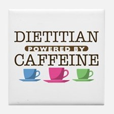 Dietitian Powered by Caffeine Tile Coaster