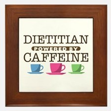 Dietitian Powered by Caffeine Framed Tile