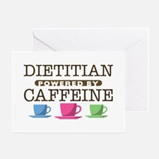 Dietitian Powered by Caffeine Greeting Card