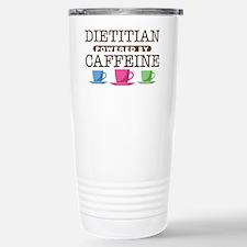 Dietitian Powered by Caffeine Ceramic Travel Mug
