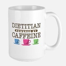 Dietitian Powered by Caffeine Large Mug