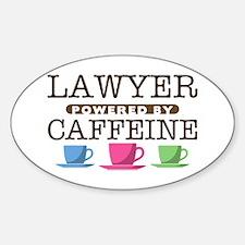 Lawyer Powered by Caffeine Oval Decal