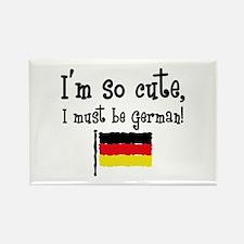 So Cute German Rectangle Magnet