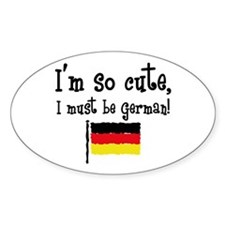 So Cute German Oval Decal