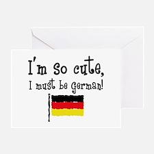 So Cute German Greeting Card