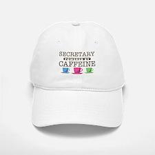 Secretary Powered by Caffeine Baseball Baseball Cap