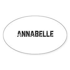 Annabelle Oval Decal